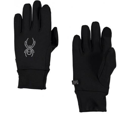 Manusi Spyder Stretch Fleece Conduct W Negre/ Argintii