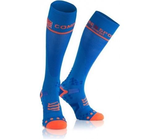 Sosete compresie Compressport Full Socks V2.1 Albastre