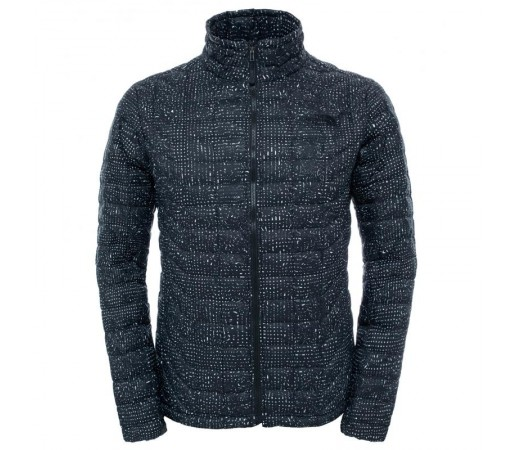 Geaca The North Face M Thermoball Full Zip Neagra/Gri