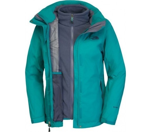 Geaca The North Face W Evolution II Triclimate Green/Blue