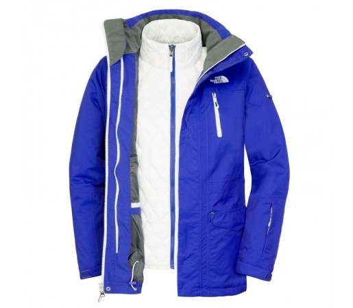Geaca The North Face W Thermoball Snow Triclimate Blue/White