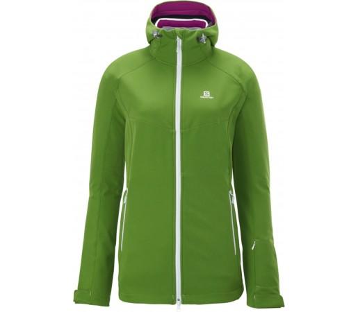 Geaca Ski Salomon Snowflirt 3:1 W Amphib Green