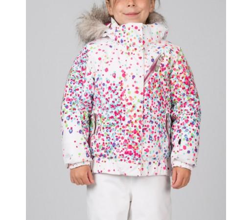 Geaca Schi si Snowboard Spyder Bitsy Lola Alb Confetti Print/Roz