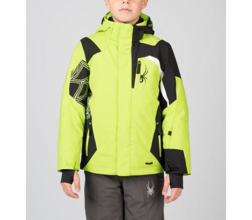 Geaca Schi si Snowboard Spyder Boys Challenger Verde/Negru/Alb