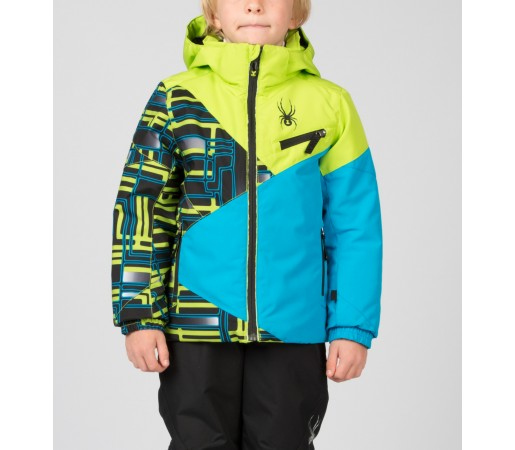 Geaca Schi si Snowboard Spyder Mini Ambush Verde/Albastru