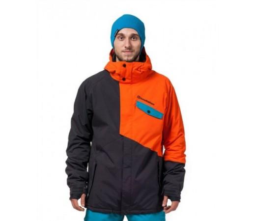 Geaca schi si snowboard Horsefeathers Nolan Portocalie/ Neagra