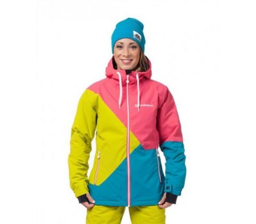 Geaca schi si snowboard Horsefeathers Veronika Verde/ Roz