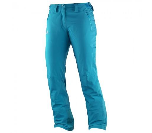 Pantaloni schi si snowboard Salomon Iceglory Pant W Turquoise