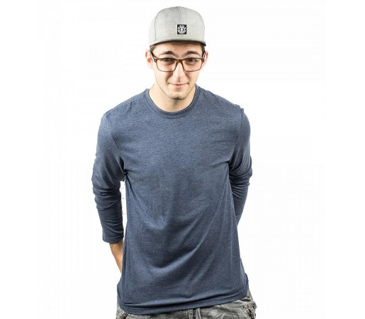 Bluza Barbati Element Basic Crew LS Indigo