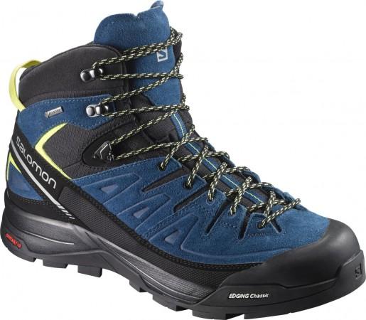 Ghete Barbati Hiking Salomon X Alp Mid LTR GTX Albastru / Negru