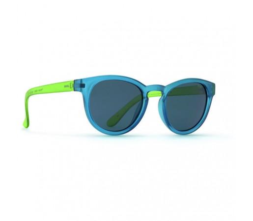 Ochelari de Soare Invu Kids Collection G Matt Blue / Matt Transparent Green - Solid Smoke