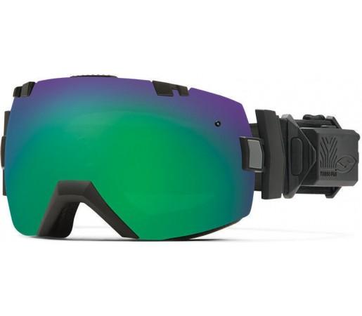 Ochelari Schi si Snowboard Smith I/OX Turbo Fan Black / Green Sol-X mirror