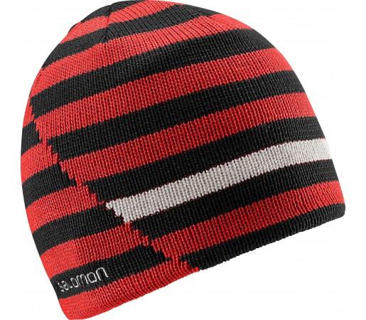 Caciula Salomon Stripe Beanie Reversible Red