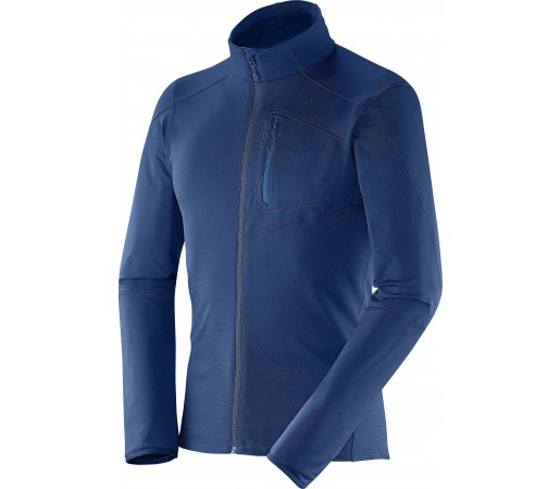 Bluza Salomon Discovery FZ Midlayer M Midnight Blue