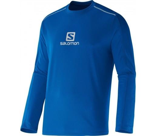 Bluza Tehnica Salomon Stroll Logo M Blue
