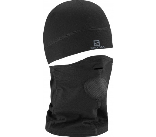Caciula Salomon Split Balaclava Black