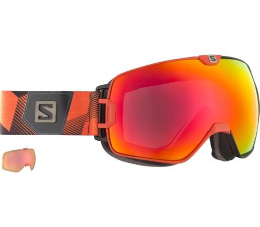 Ochelari Ski si Snowboard Salomon X-Max+Xtralens Orange/Black
