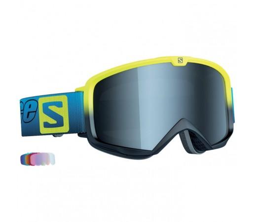 Ochelari schi si snowboard Salomon M X Race Lab 5 Albastri/Galbeni