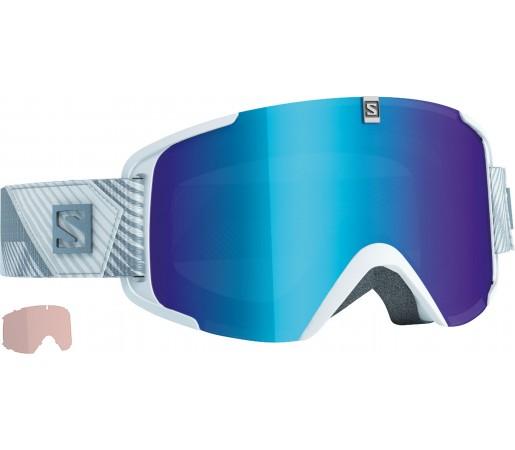 Ochelari de schi si snowboard Salomon X-View + Xtra Lens Alb