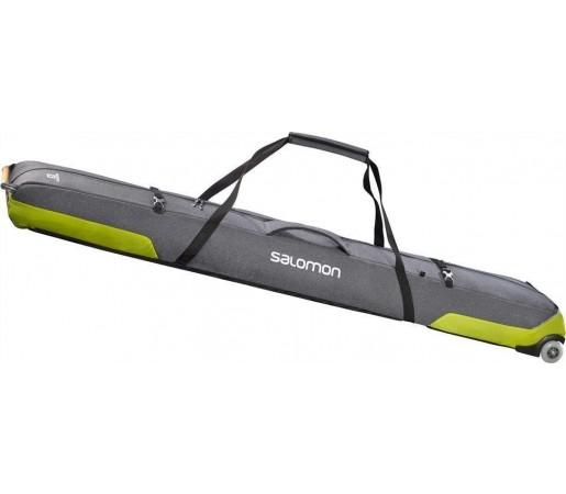 Husa Ski Salomon Connect 2 Pairs Wheely Skisleeve Grey