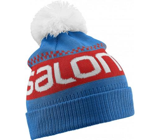 Caciula Salomon Junior Logo Beanie Albastra