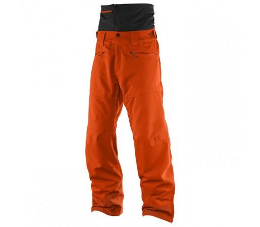 Pantaloni schi si snowboard Salomon M Qst Guard Portocalii