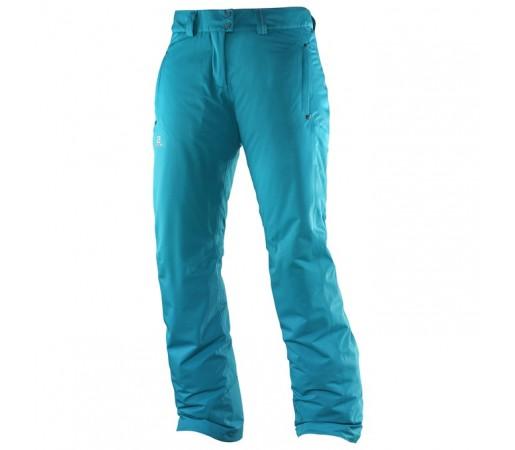 Pantaloni schi si snowboard Salomon W Stormspotter Albastri