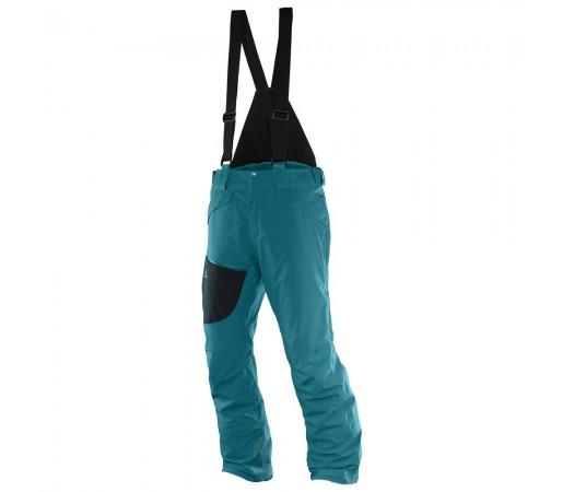 Pantaloni schi si snowboard Salomon M Chill Out Bib Turcoaz