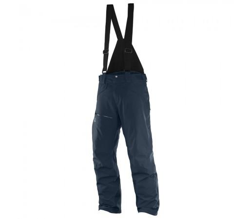 Pantaloni schi si snowboard Salomon M Chill Out Bib Bleumarin