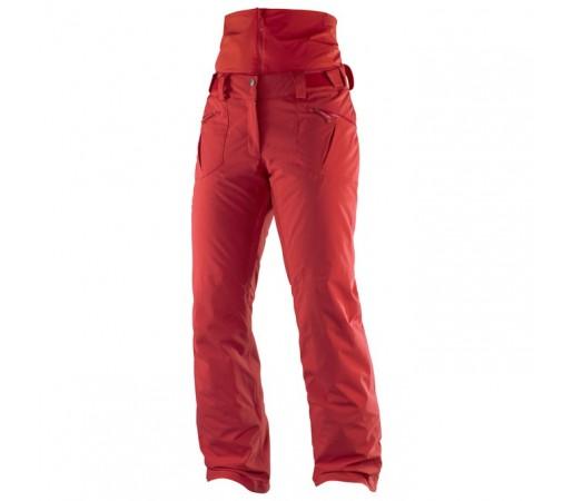 Pantaloni schi si snowboard Salomon W Qst Snow Rosii