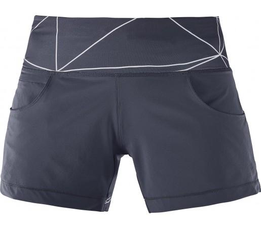Pantaloni Scurti Alergare Salomon Elevate Flow W Gri Inchis