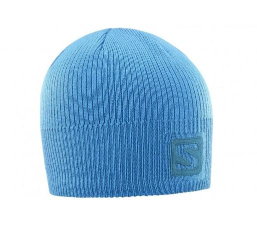 Caciula Salomon Logo Albastru