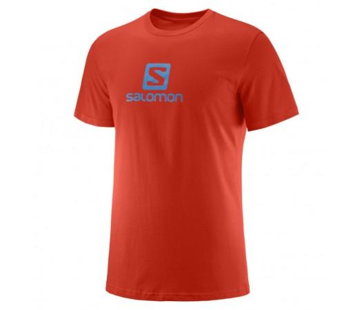 Tricou Barbati Salomon Coton Logo SS Portocaliu