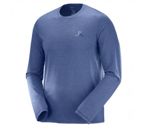 Bluza Alergare Barbati Salomon Pulse LS Albastru