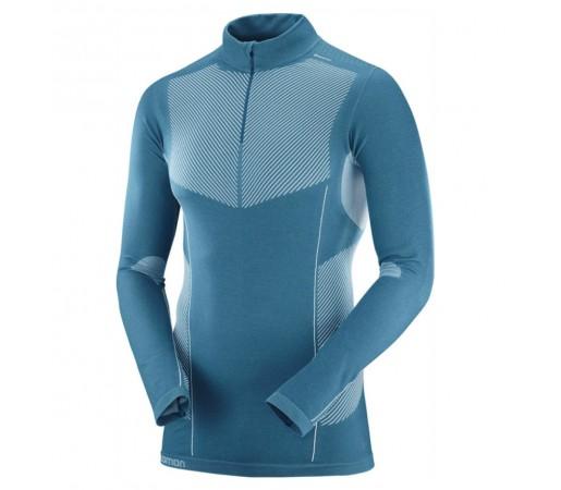 Bluza First Layer Ski Barbati Salomon Primo Warm LS HZ Albastru