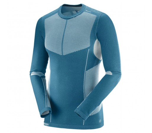 Bluza First Layer Ski Barbati Salomon Primo Warm LS CN Albastru