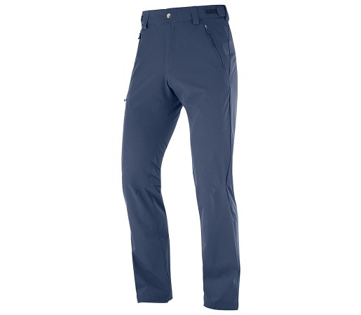 Pantaloni Barbati Hiking Salomon Wayfarer Straight Bleumarin