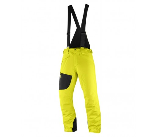 Pantaloni Ski si Snowboard Barbati Salomon Chill Out Bib Galben
