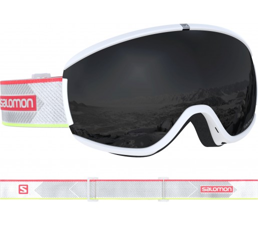 Ochelari Ski si Snowboard Salomon Ivy White Coral/Solar Black Alb