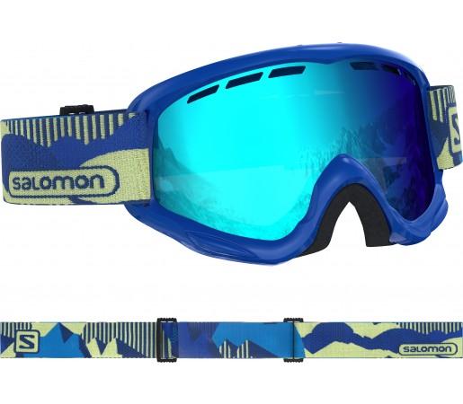 Ochelari Ski si Snowboard Copii Salomon Juke Blue Pop/Univ. Mid Blue Albastru