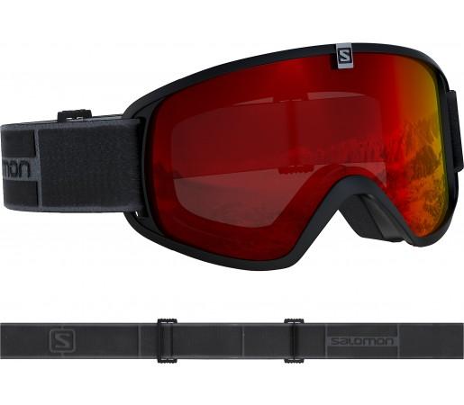 Ochelari Ski si Snowboard Copii Salomon Trigger Black/Univ. Mid Red Negru