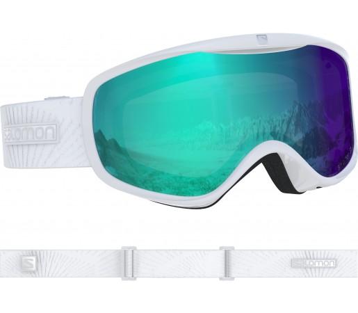 Ochelari Ski si Snowboard Salomon Sense Photo Wh/All Weather Bl Alb