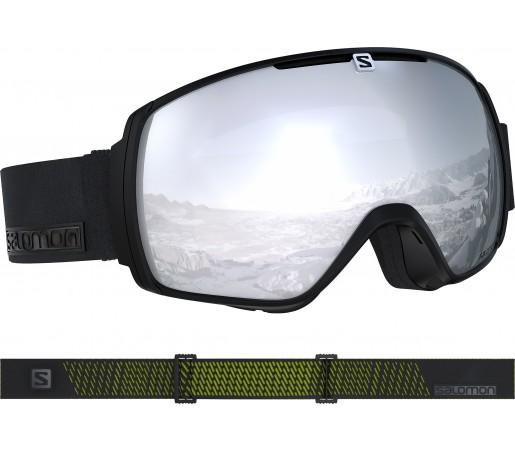 Ochelari Ski si Snowboard Salomon XT One Black Neon/Univ. White Negru