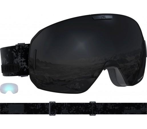 Ochelari Ski si Snowboard Salomon S/Max Black/Solar Black Negru