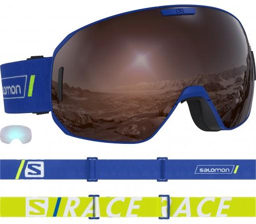 Ochelari Ski si Snowboard Salomon S/Max Race Blue/Solar Silver Albastru