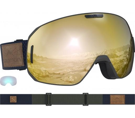 Ochelari Ski si Snowboard Salomon S/Max Olive Night/Solar Bronze Gri