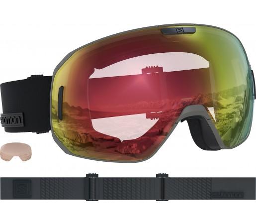 Ochelari Ski si Snowboard Salomon S/Max Photo Bronze/All Weather Red Gri