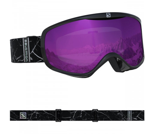 Salomon Ochelari Ski SENSE Black Marble/Univ.Ruby Femei Negru
