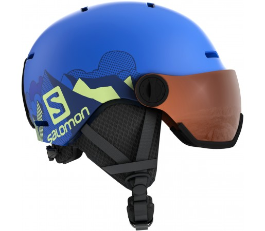Casca Ski si Snowboard Salomon Grom Visor Albastru