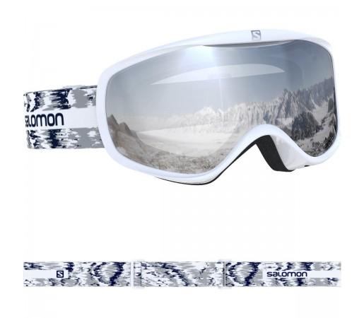 Salomon Ochelari Ski SENSE White Glitch/Uni S.White Femei Gri